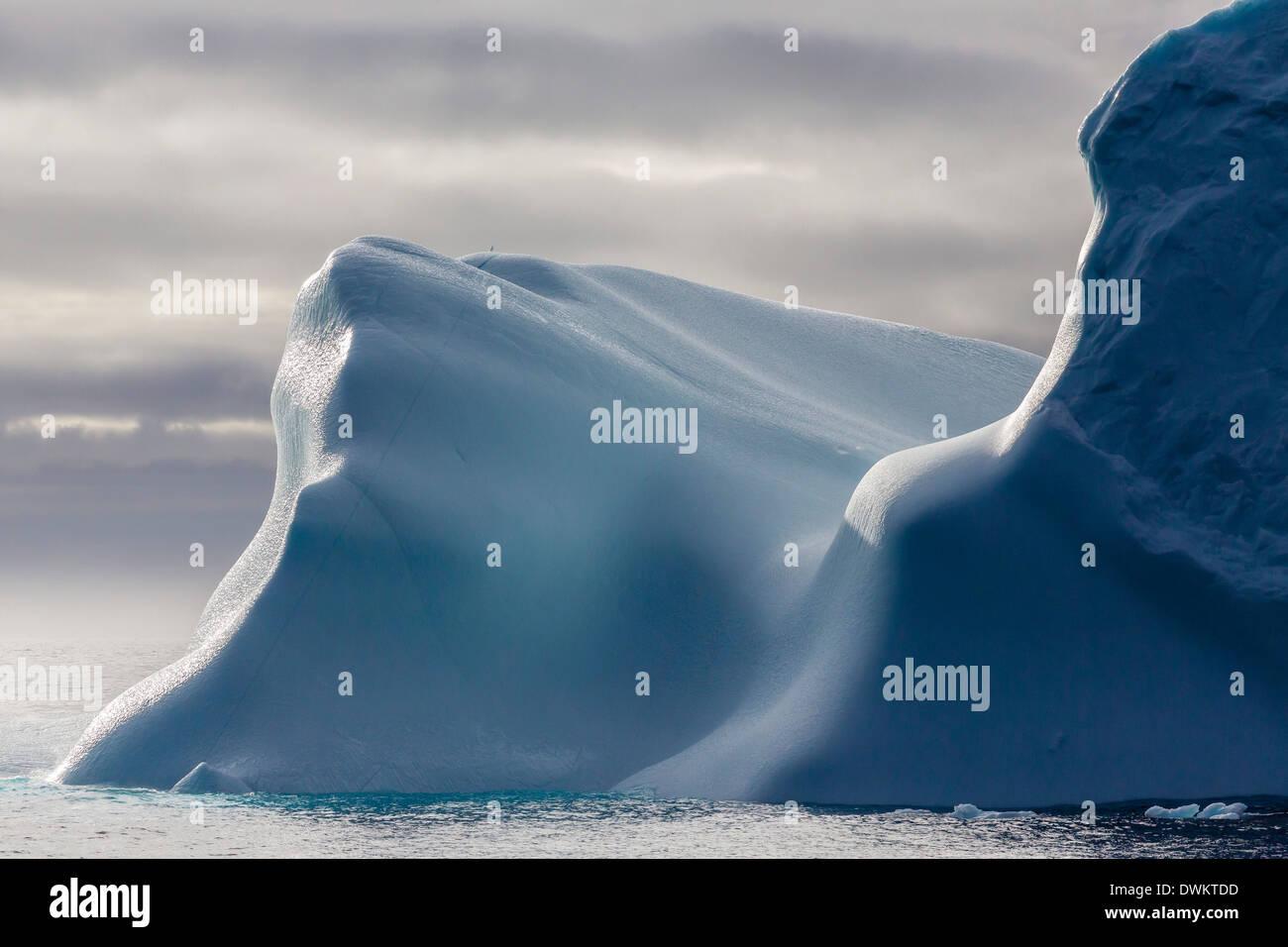 Huge iceberg in Baffin Bay, Nunavut, Canada, North America Stock Photo