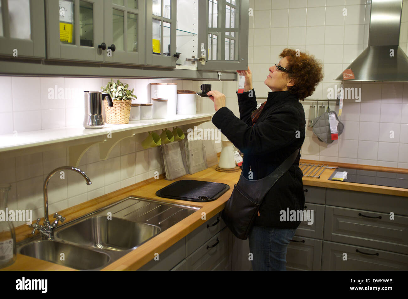 Ikea Kitchen Showroom   Stock Image
