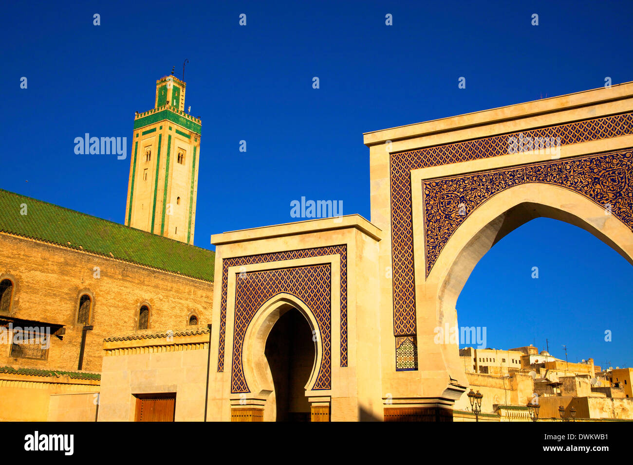 Mosque R'Cif, R'Cif Square (Place Er-Rsif), Fez, Morocco, North Africa, Africa - Stock Image