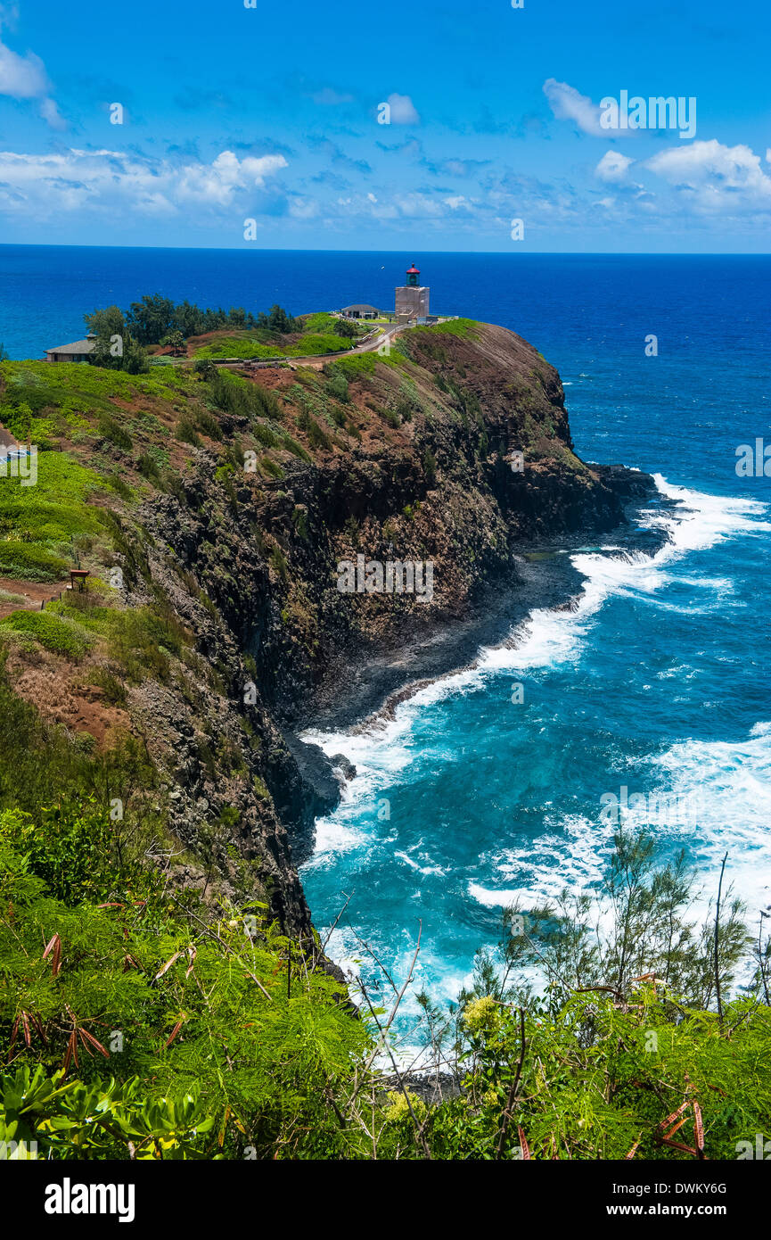 Kilauea Point National Wildlife Refuge on the island of Kauai, Hawaii, United States of America, Pacific - Stock Image