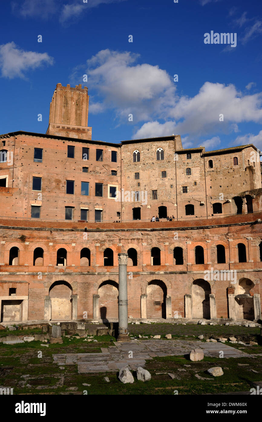 italy, rome, trajan markets - Stock Image