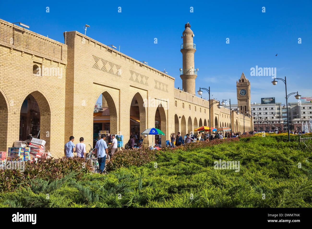 Shar Park and Qaysari Bazaar, Erbil, Kurdistan, Iraq, Middle East - Stock Image