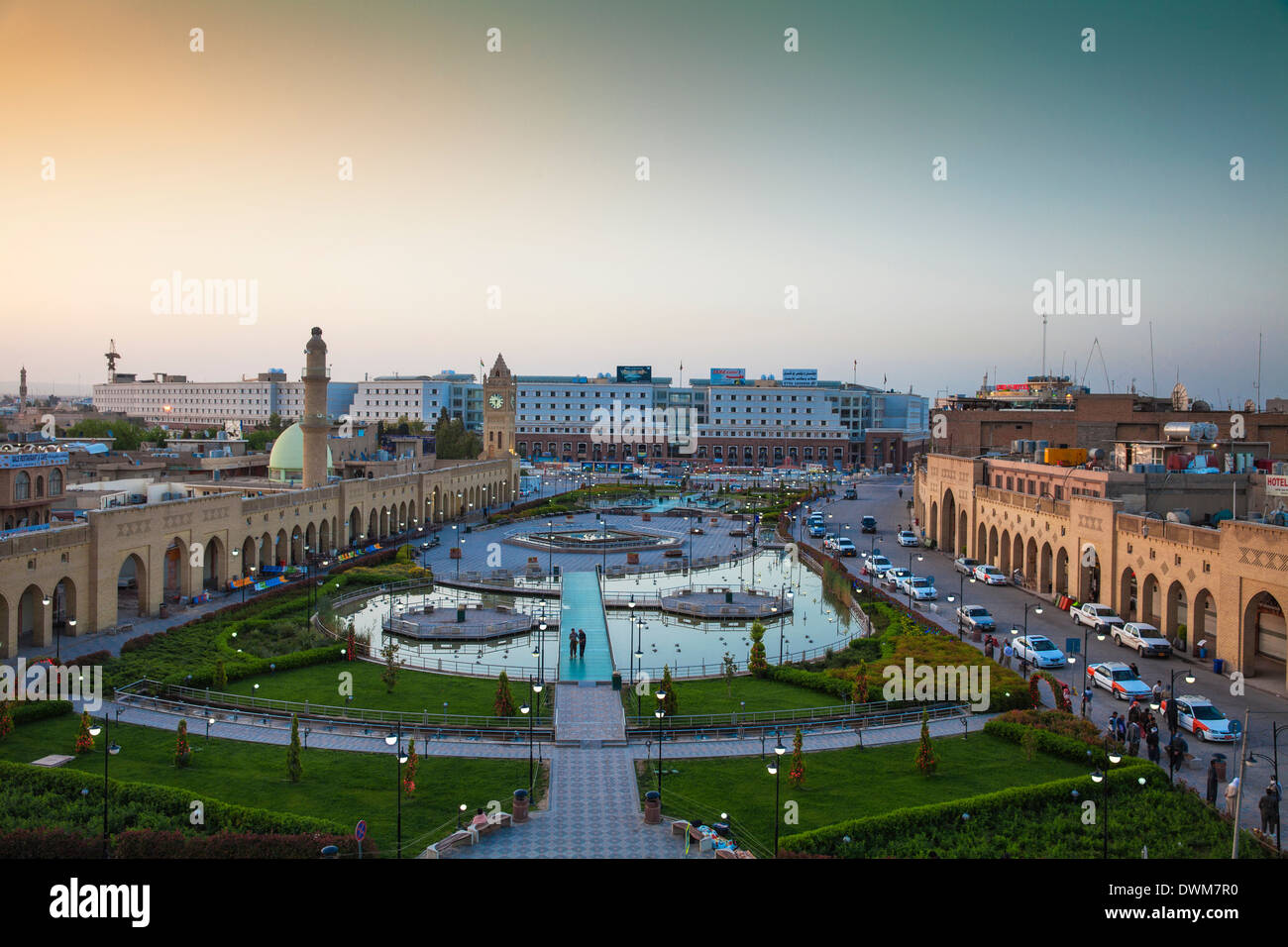 Shar Park and Qaysari Bazaars, Erbil, Kurdistan, Iraq, Middle East - Stock Image
