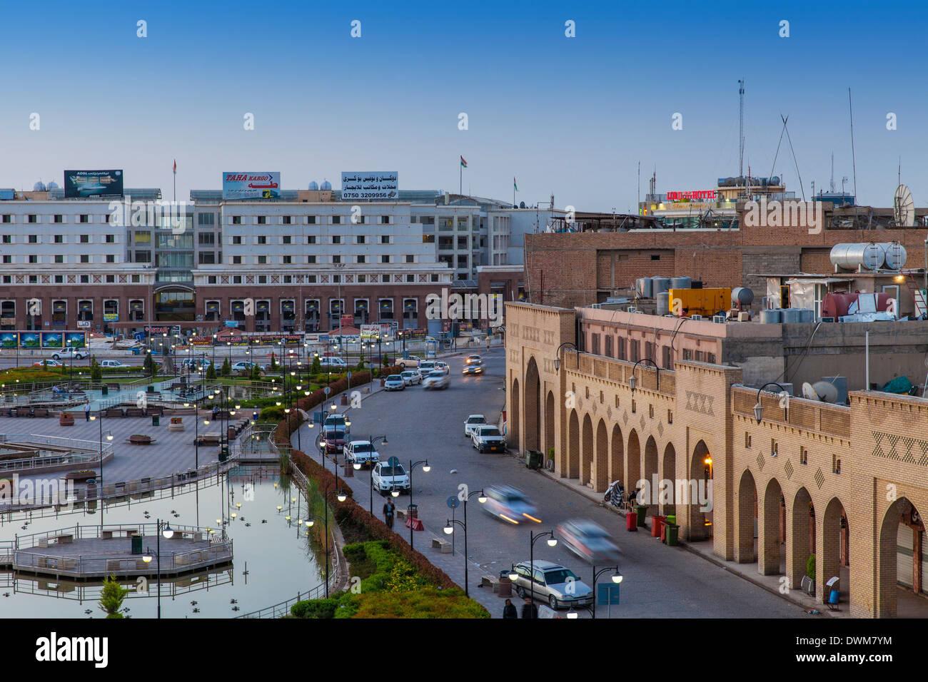 Shar Park and Qaysari Bazaars, Erbil, Kurdistan, Iraq, Middle East - Stock Image