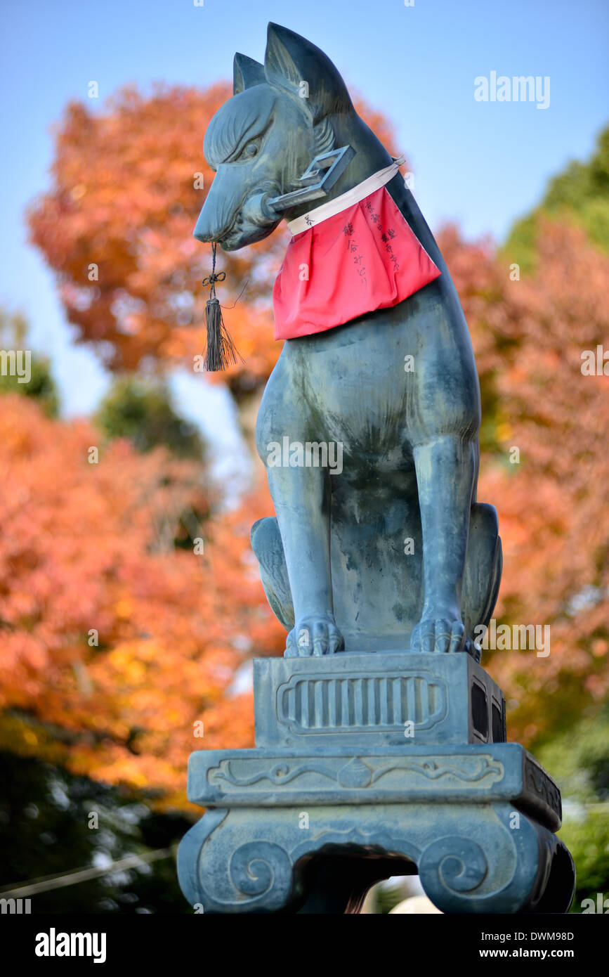 Temple Guardian in Fushimi Inari shrines - Stock Image