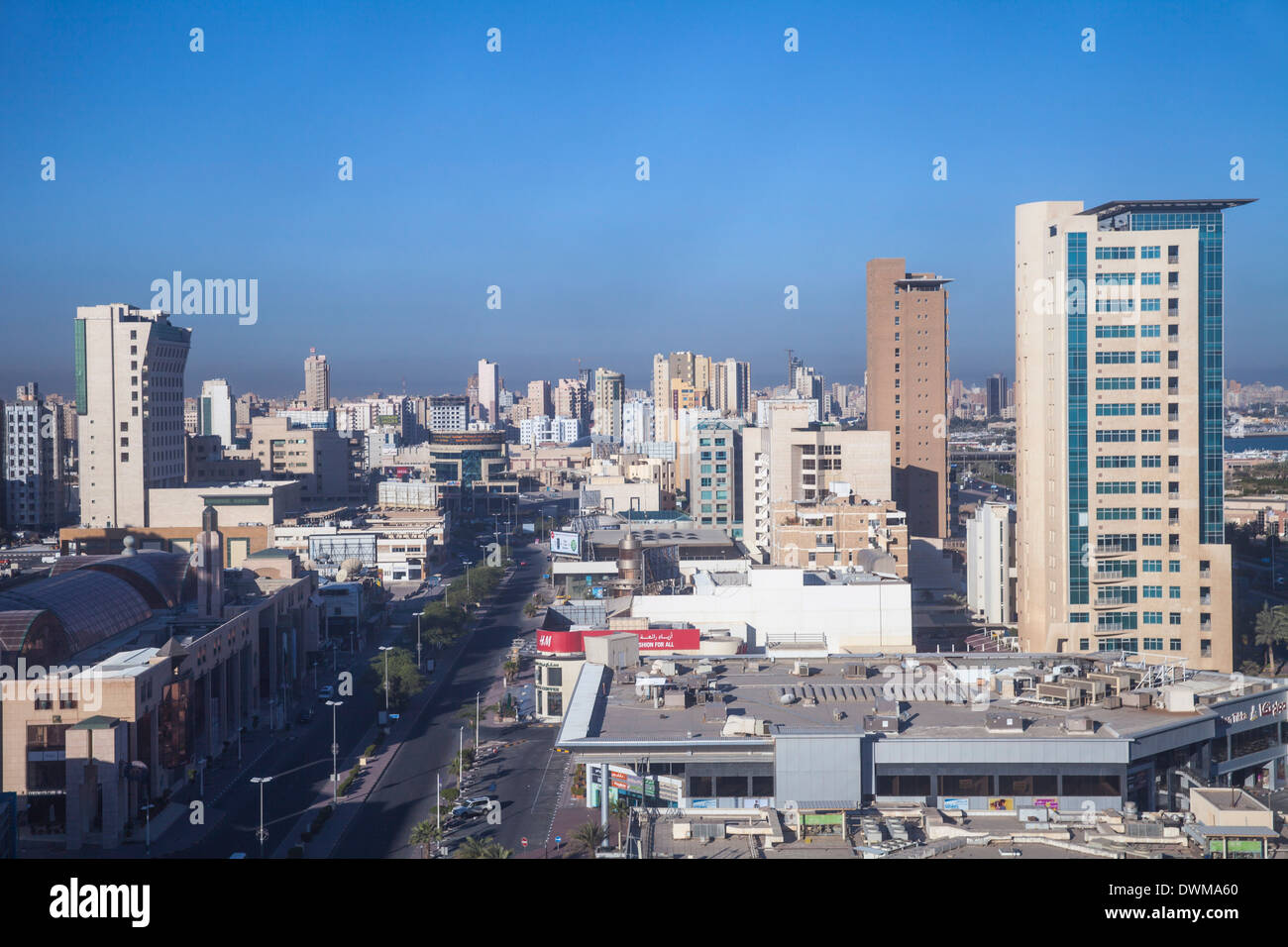Salmiya, Kuwait City, Kuwait, Middle East - Stock Image
