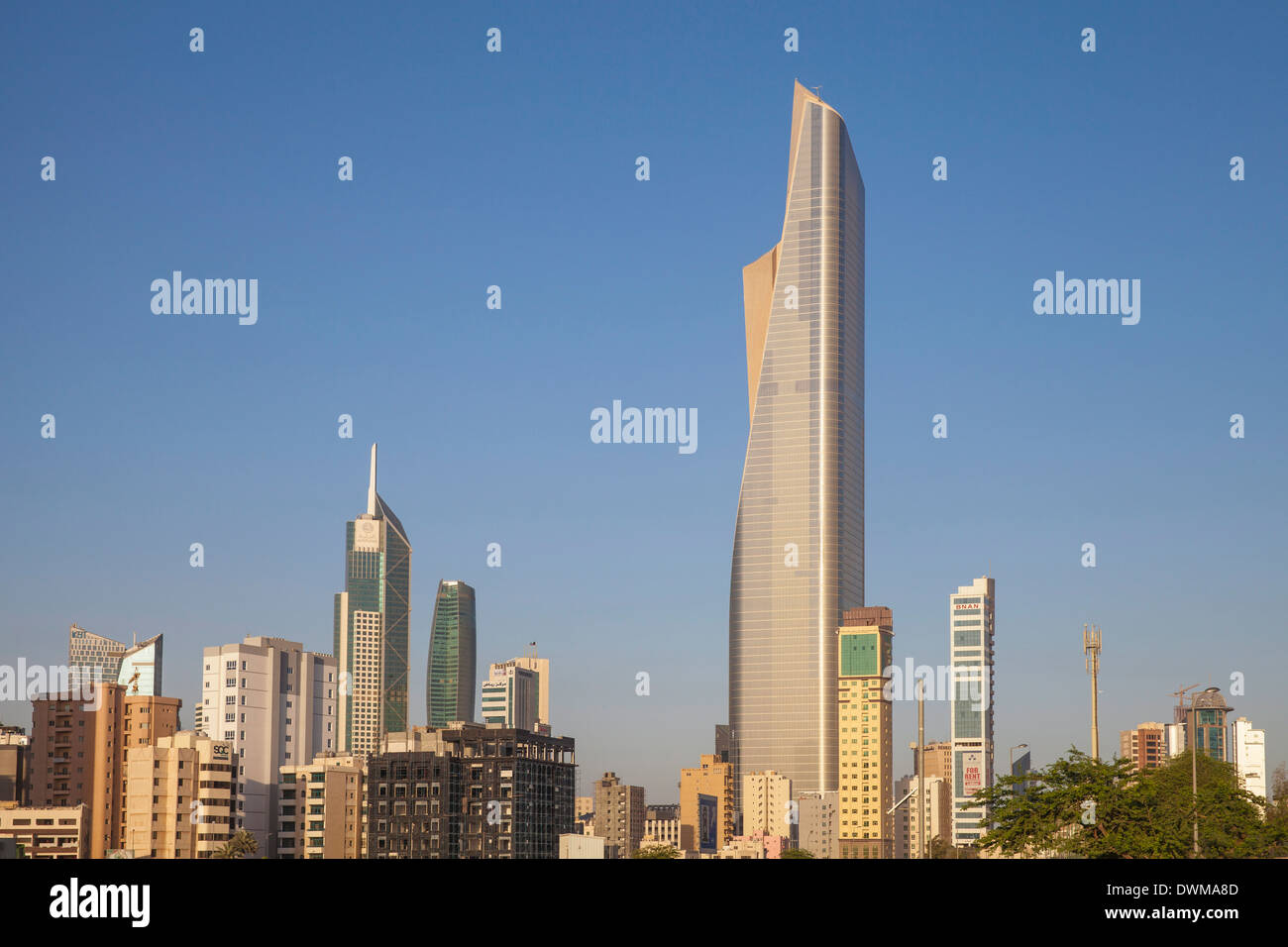 El Hamra Building, a business and luxury shopping center, Kuwait City, Kuwait, Middle East - Stock Image