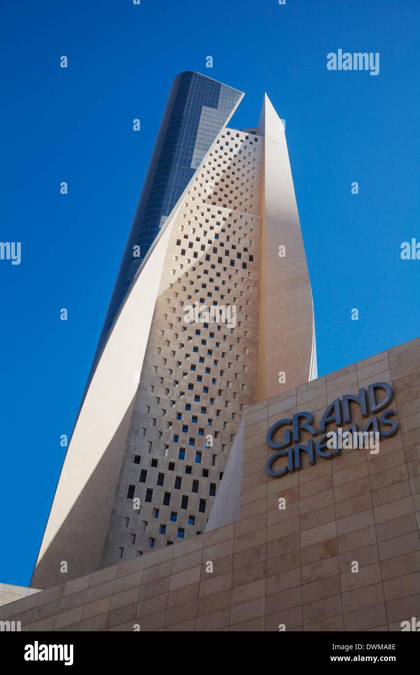 El Hamra Building, a business and luxury shopping center, Kuwait City, Kuwait, Middle East - Stock Image