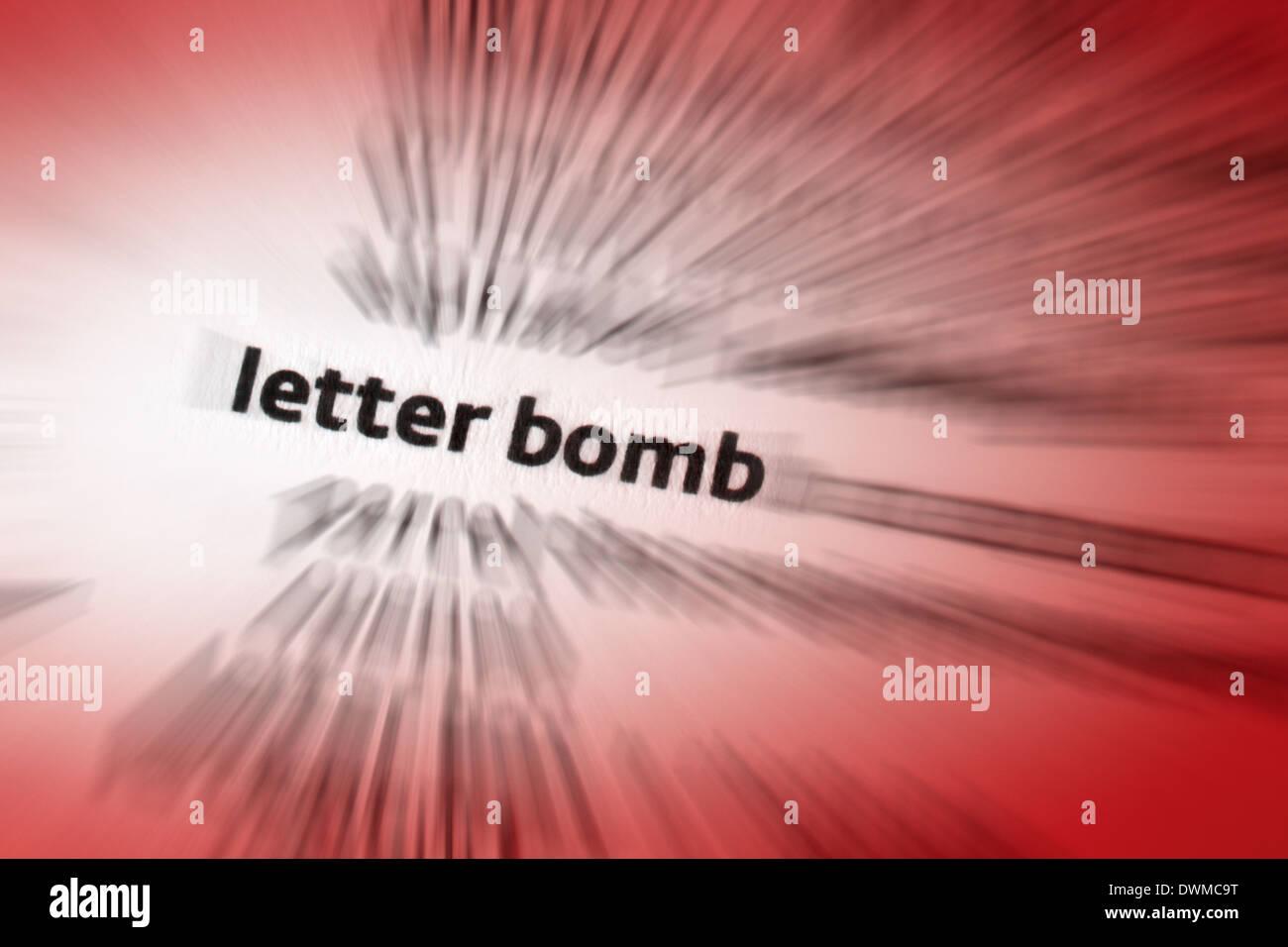 Letter bomb - Stock Image