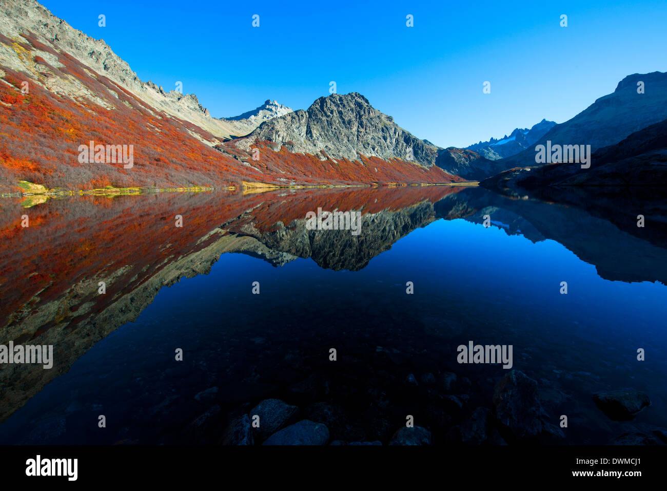 Jakob Lagune at 1800 meters, San Carlos de Bariloche, Patagonia, Argentina, South America - Stock Image