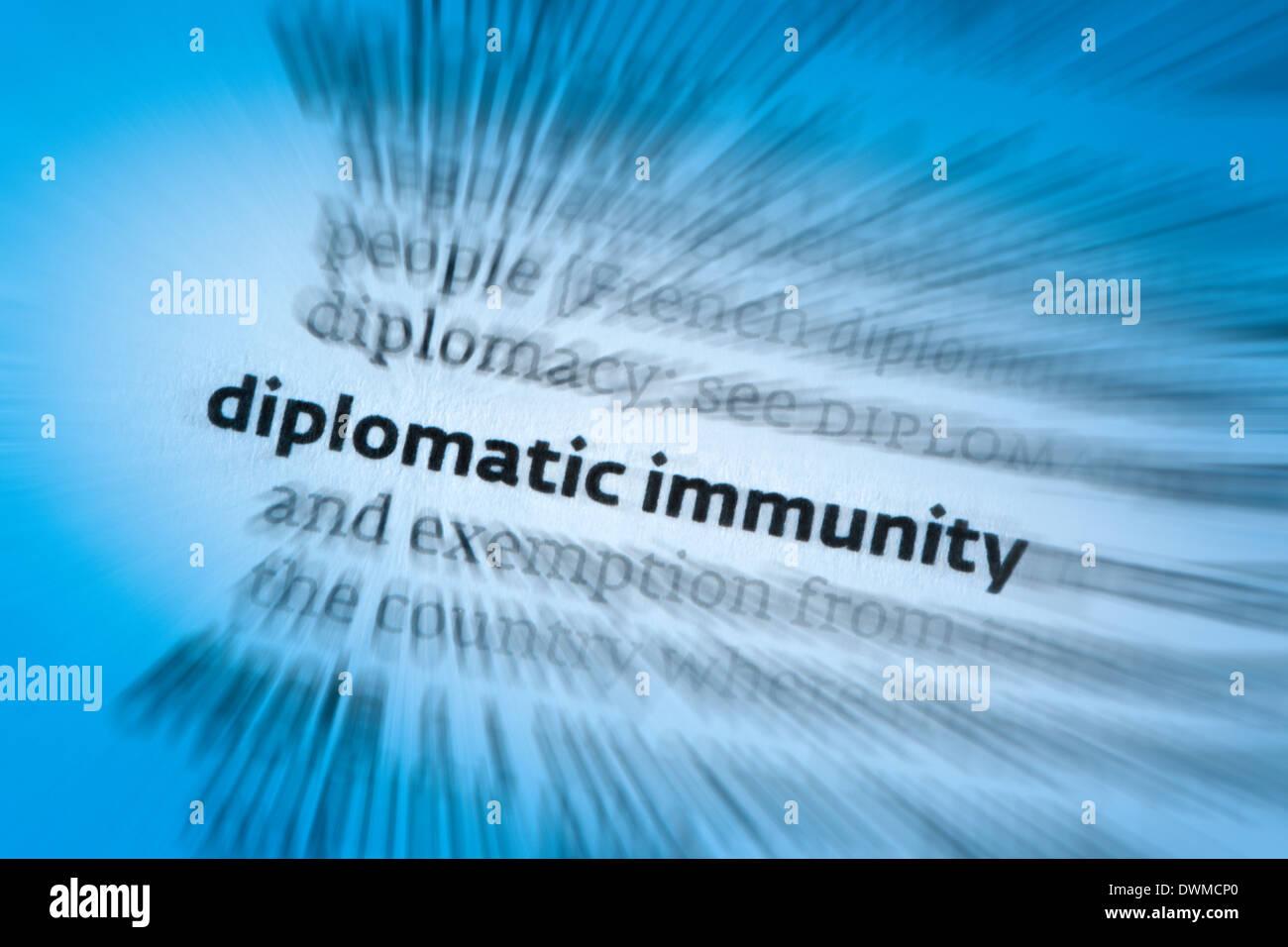 Diplomatic immunity - Stock Image