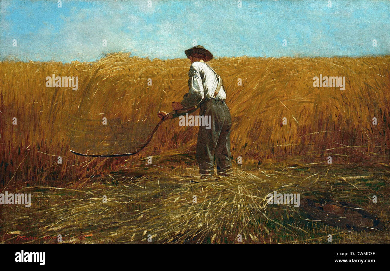 Winslow Homer - The Veteran in a New Field - Stock Image