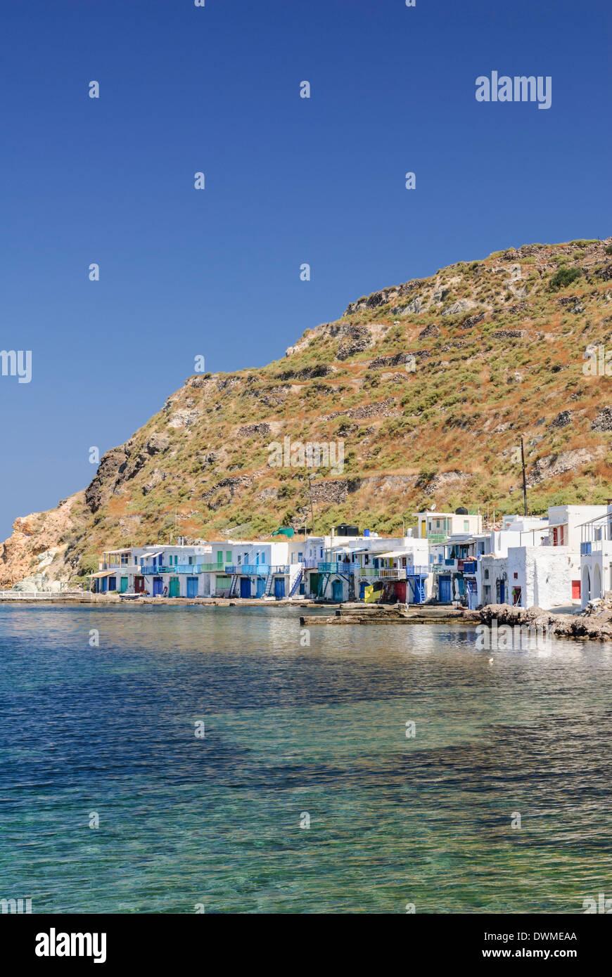 Fisherman's village of Klima on Milos Island, Cyclades, Greece - Stock Image