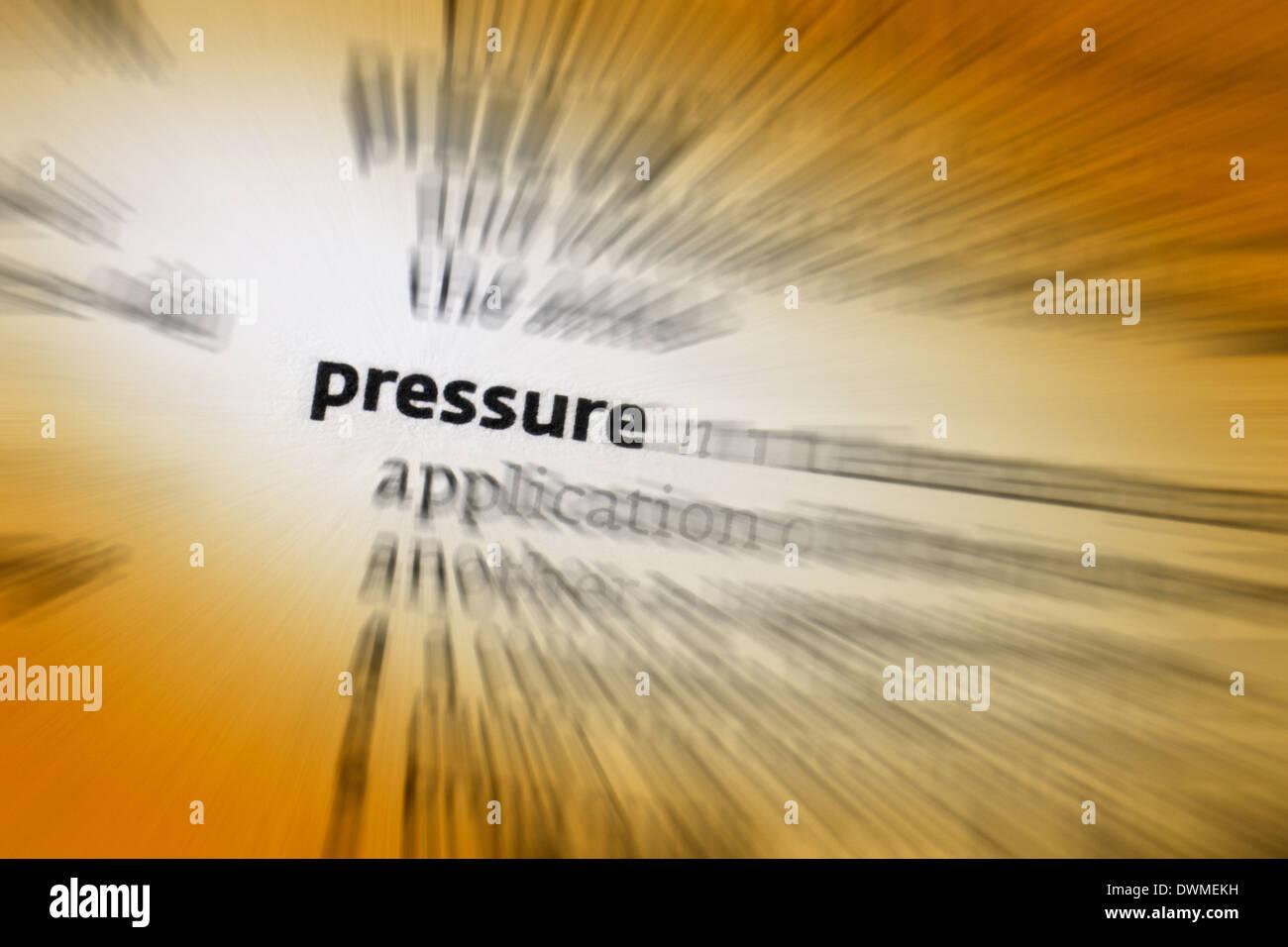 Pressure - Stock Image