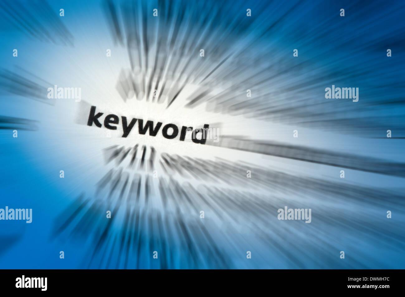 Keyword - Stock Image