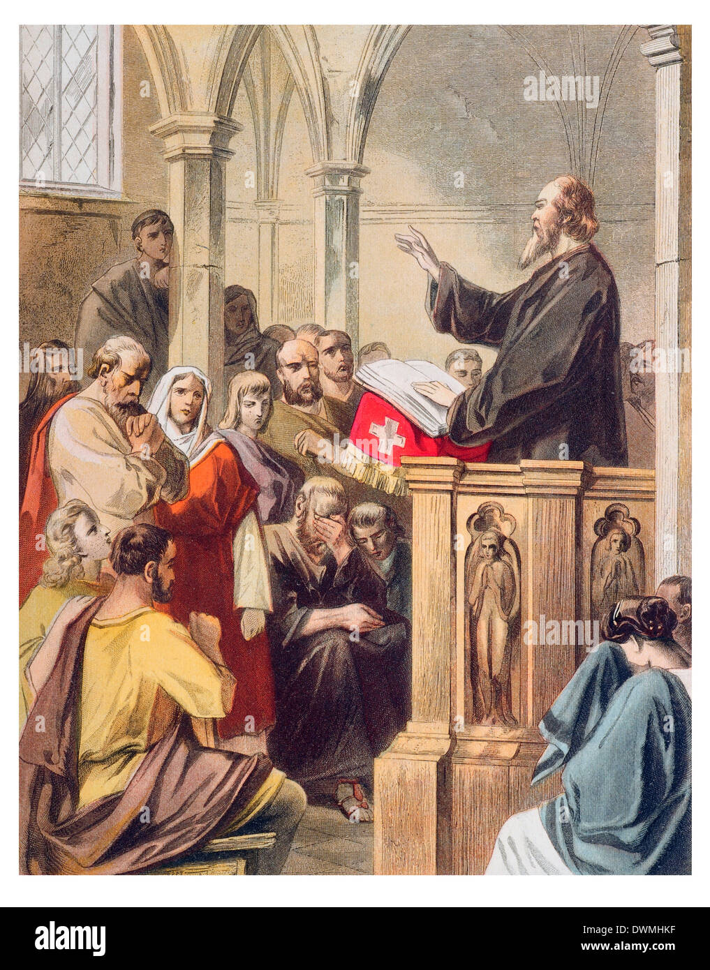 Conscience preaching in Mansoul - Stock Image