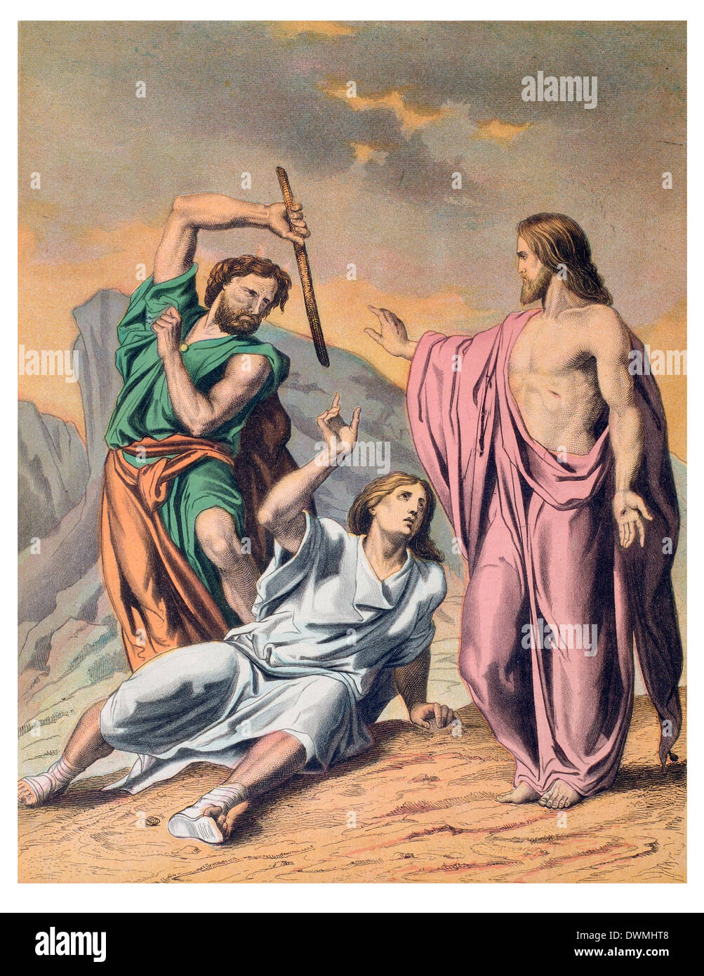 The Law Moses, the Sinner, and the Saviour - Stock Image