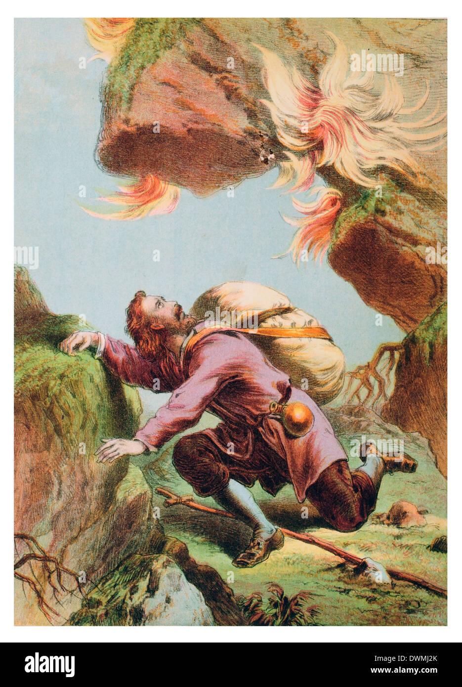 Christian under Mount Sinai - Stock Image
