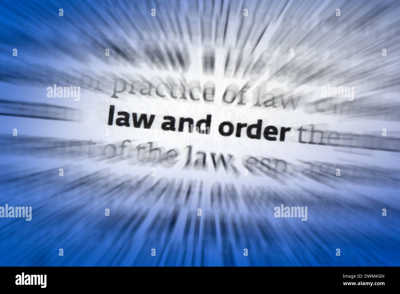 Law and Order - Stock Image