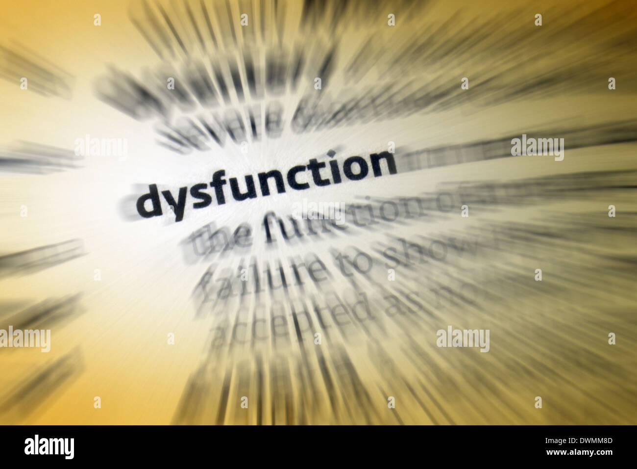 Dysfunction - Stock Image