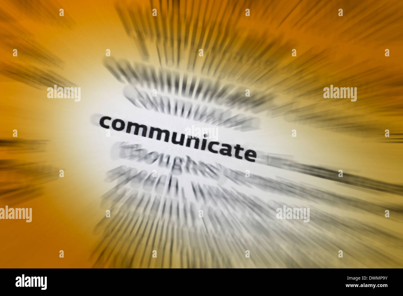 Communicate - Communication - Stock Image