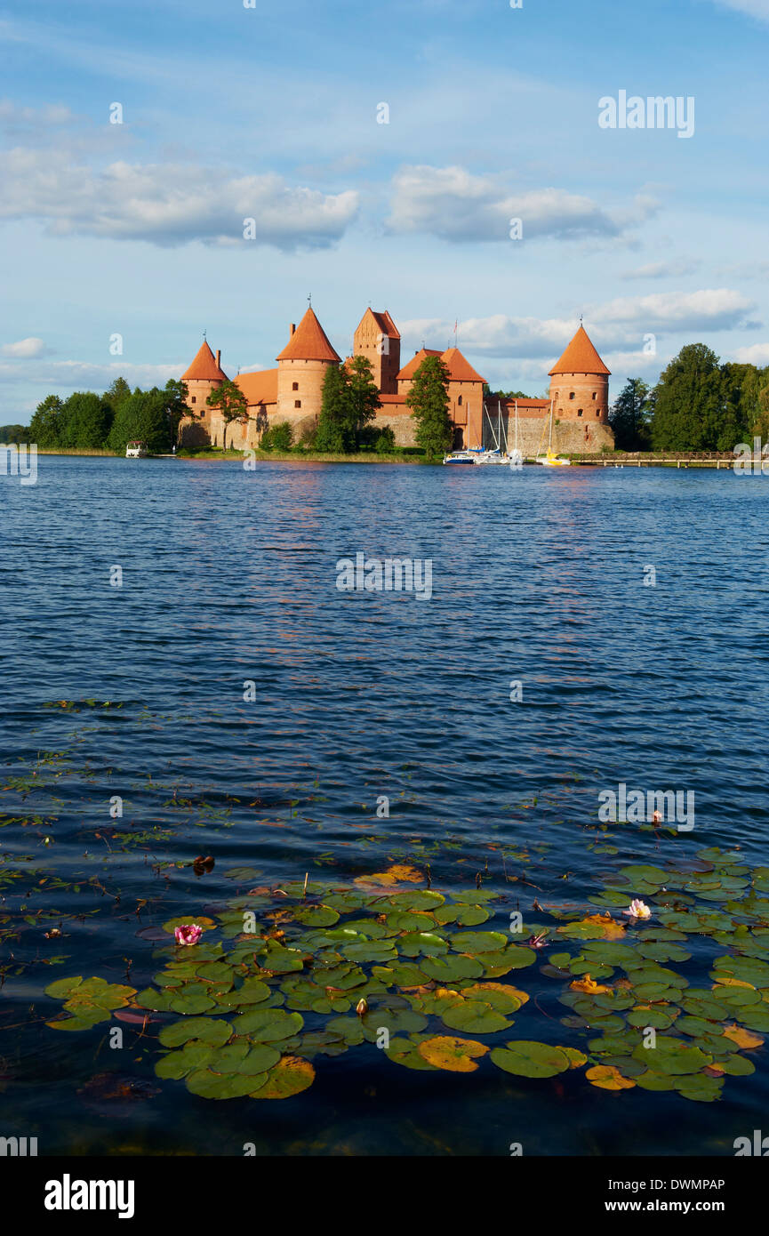 Island Castle of Trakai near Vilnius, Lithuania, Europe - Stock Image