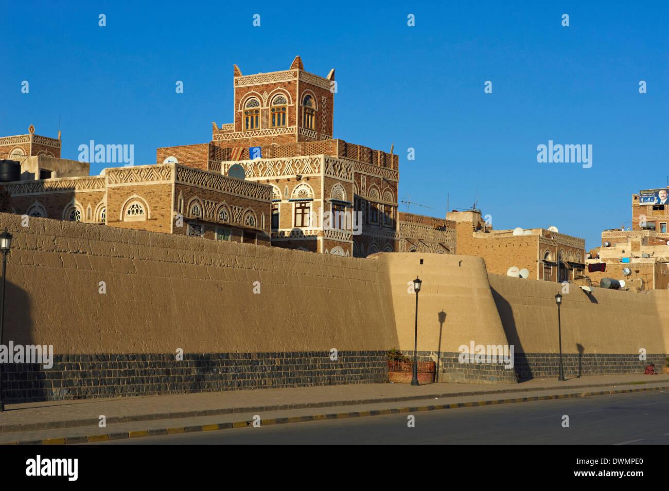 Old City of Sanaa, UNESCO World Heritage Site, Yemen, Middle East Stock Photo