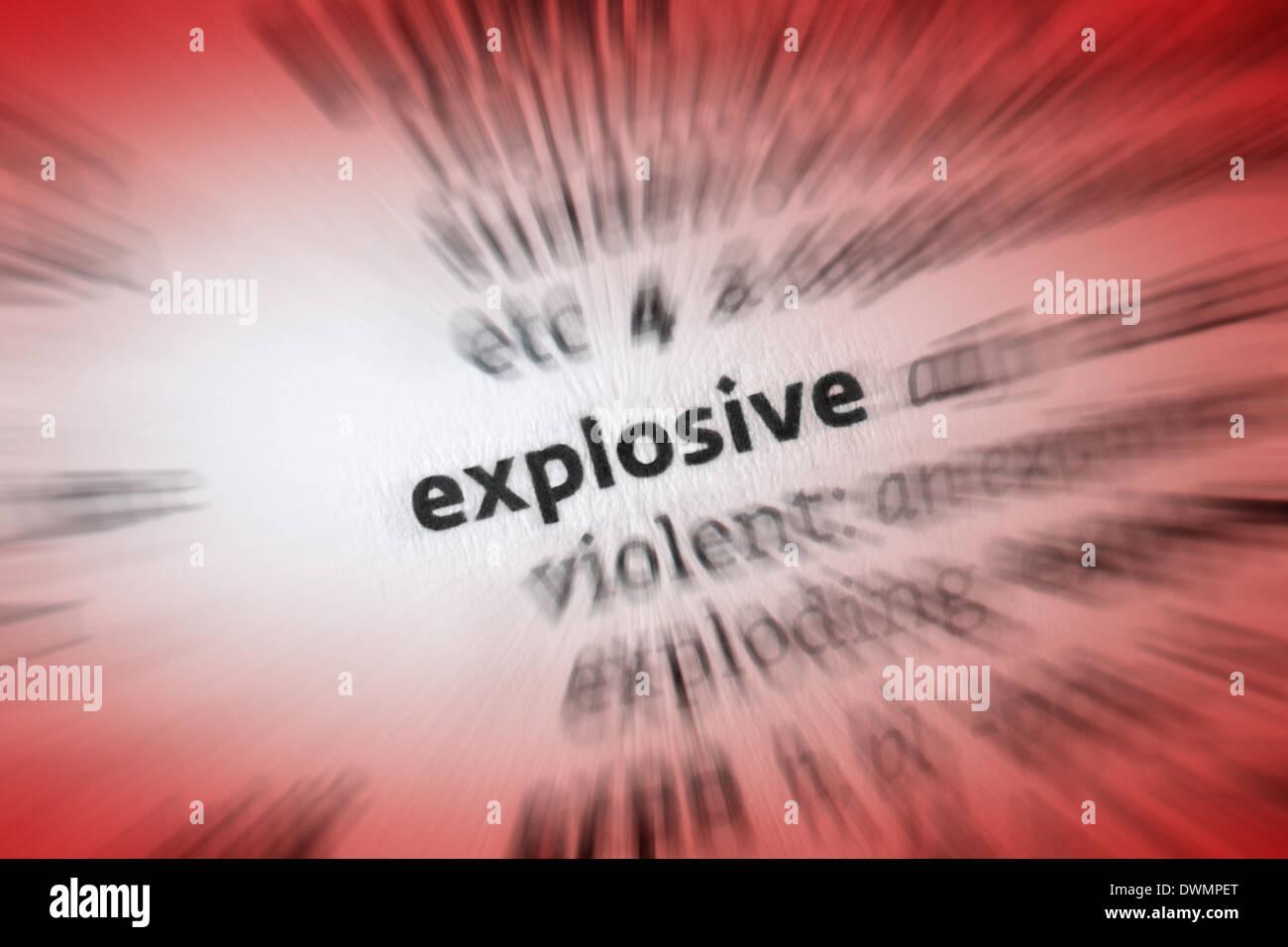 Explosive - Stock Image