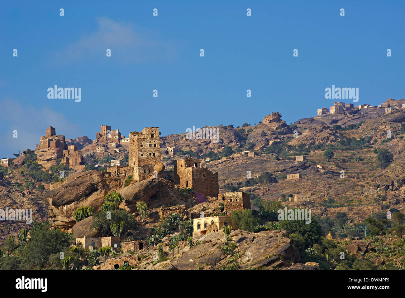 Central Mountains, Yemen, Middle East - Stock Image