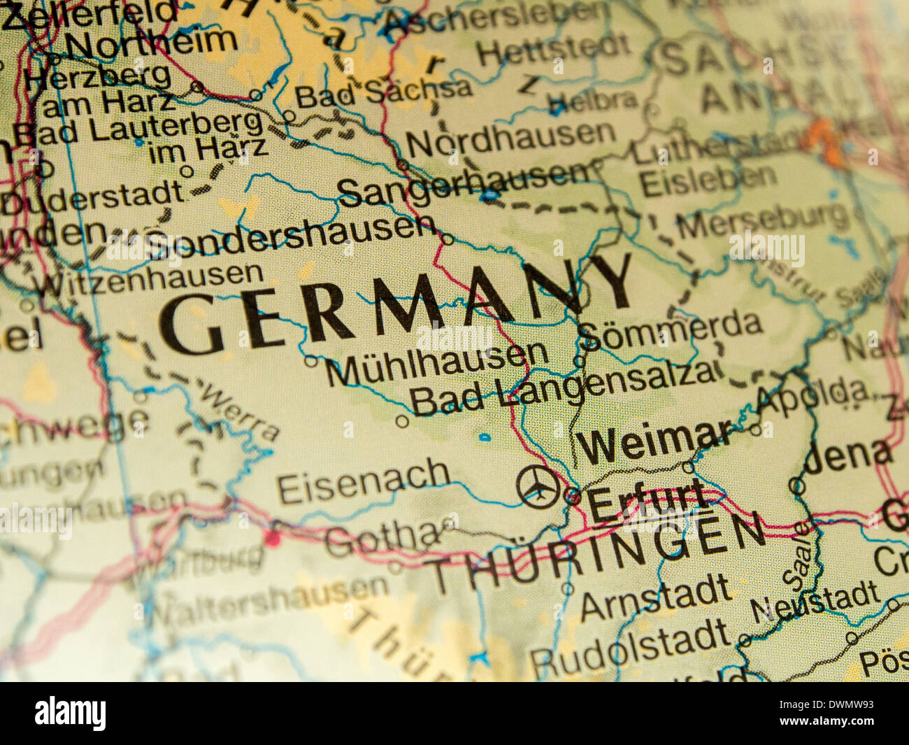 Map Of Germany To Print.Map Germany Print Paper Stock Photos Map Germany Print Paper Stock