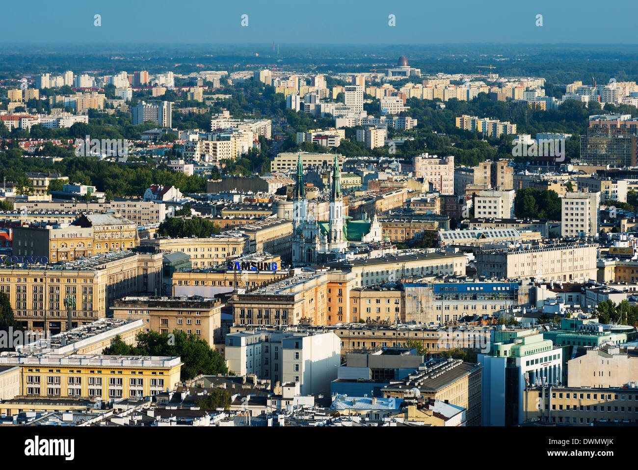 City view from Palace of Culture and Science, Warsaw, Poland, Europe - Stock Image