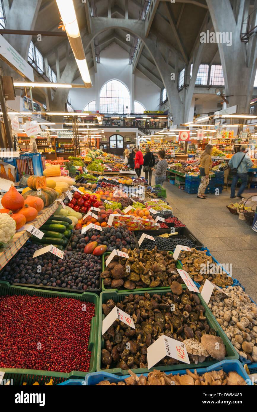 Hala Targowa market hall, Wroclaw, Silesia, Poland, Europe - Stock Image
