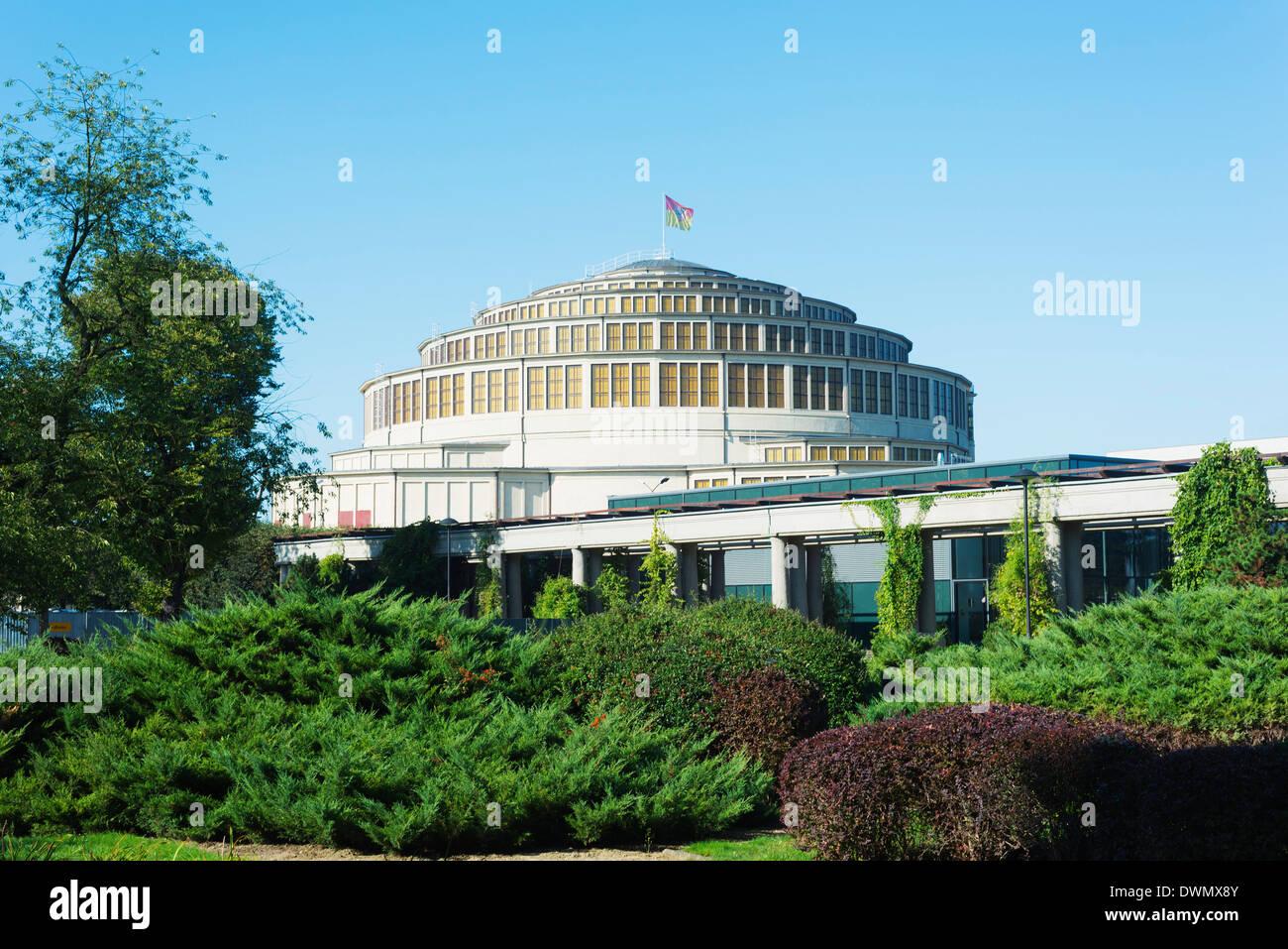 Centennial Hall, UNESCO World Heritage Site, Wroclaw, Silesia, Poland, Europe - Stock Image