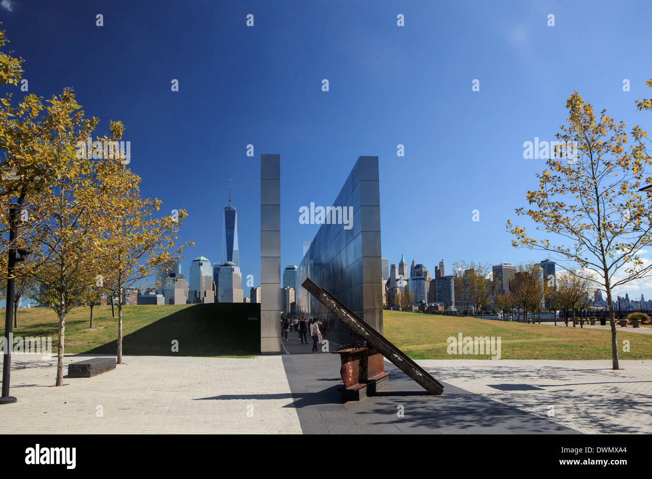 Empty Sky is the memorial to the state's victims of the September 11 attacks on the USA, Jersey City, New Jersey - Stock Image