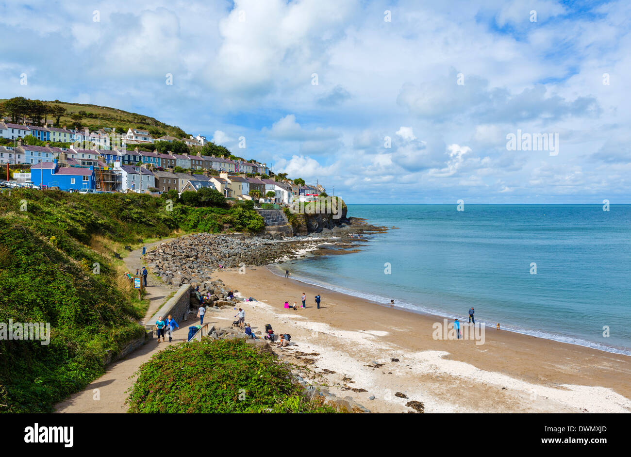 Beach in New Quay, Ceredigion, West Wales, UK - Stock Image