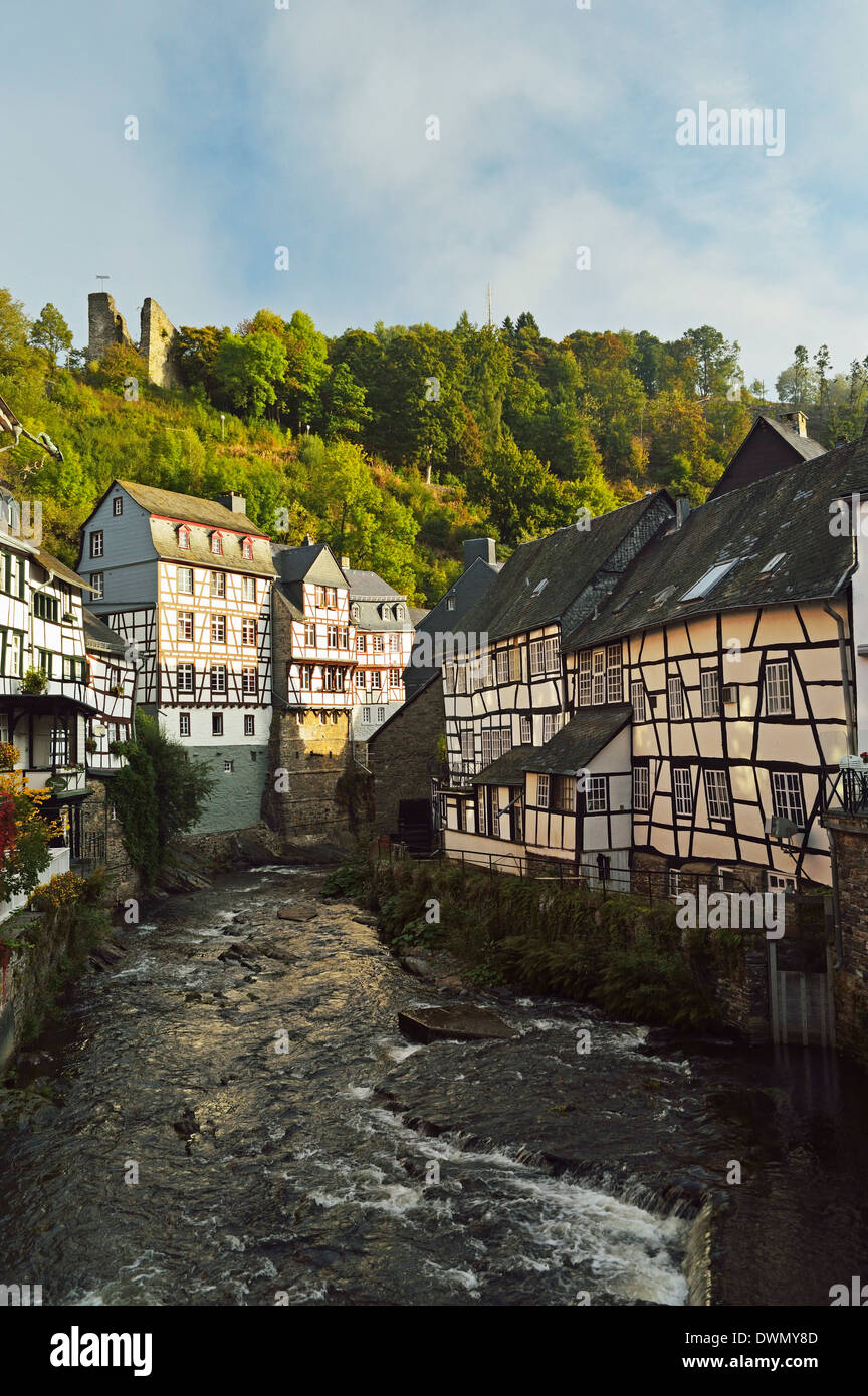 Old town of Monschau, North Rhine-Westphalia, Germany, Europe - Stock Image