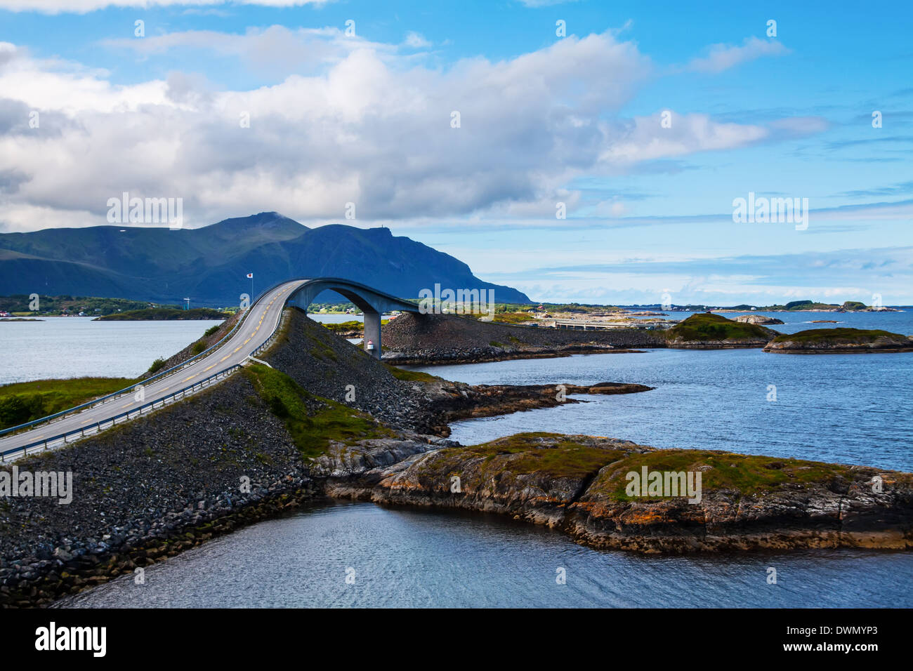 Attraction of middle Norway - Atlantic Road - Stock Image