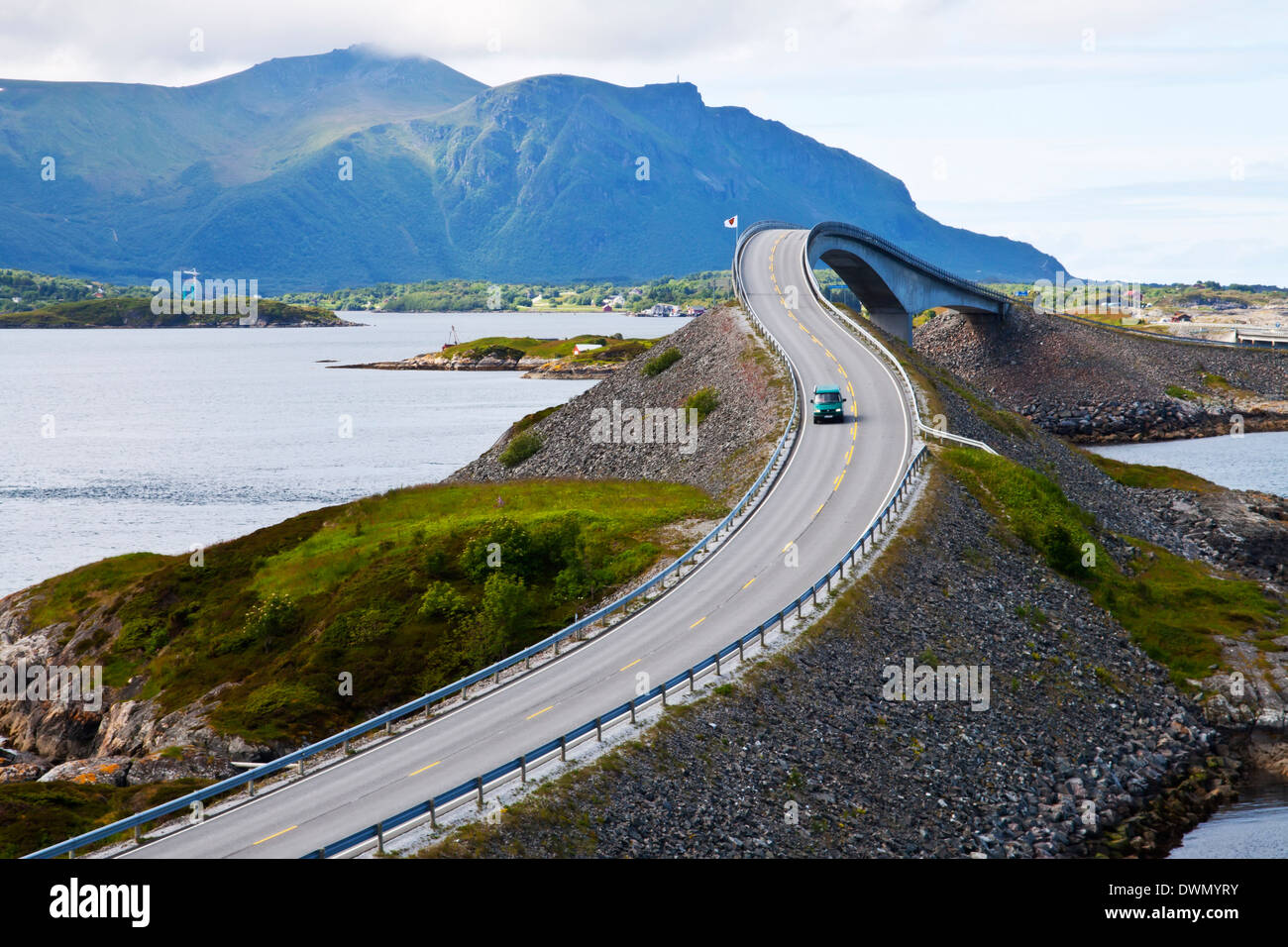 Attraction of middle Norway - Atlantic Road Stock Photo