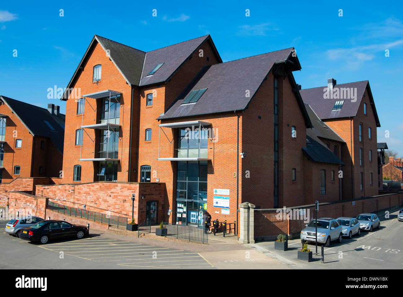 Shrewsbury Town Council offices, Frankwell Quay, Shrewsbury - Stock Image
