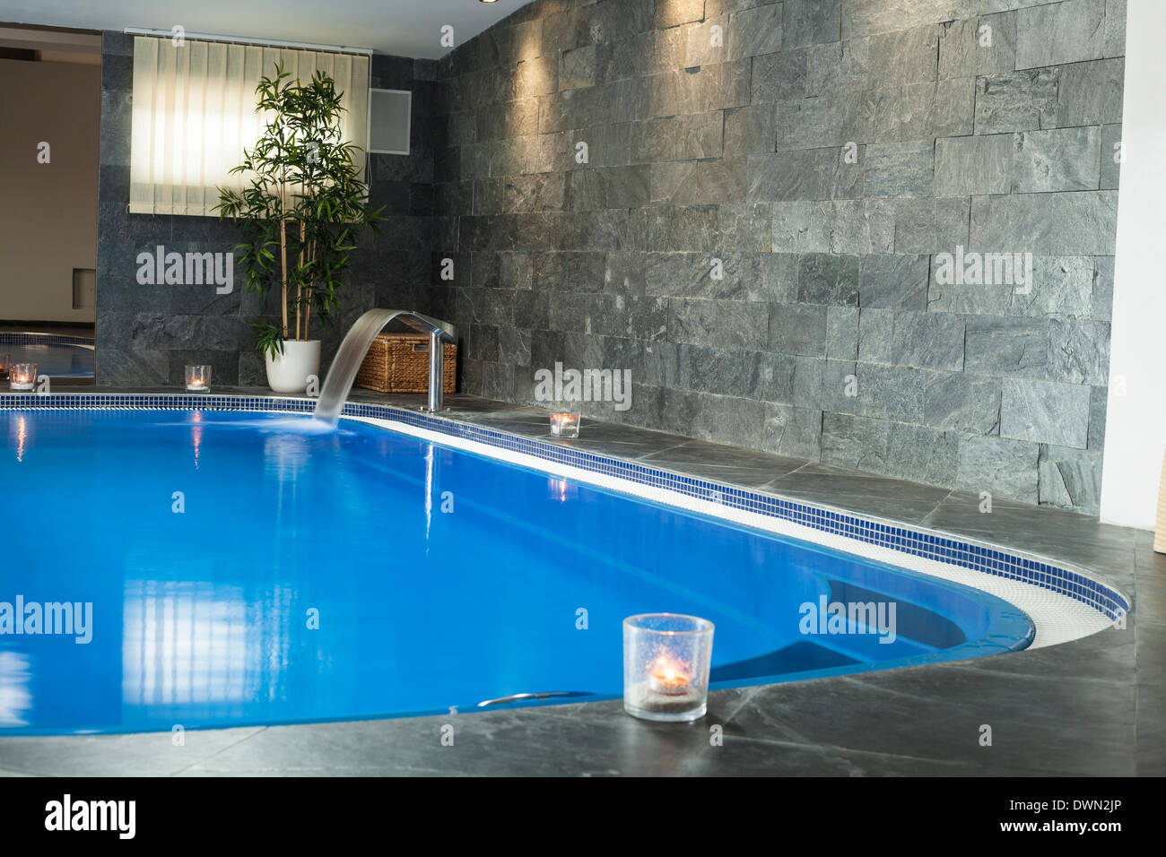 Interior of wellness and spa swimming pool. Stock Photo