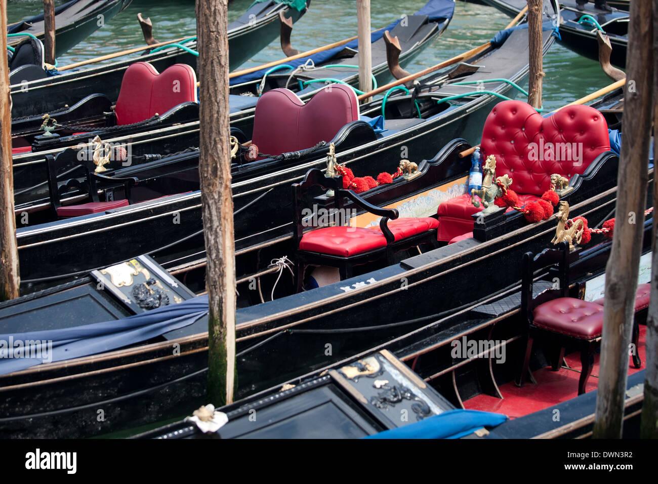 gondolas in Venice - Stock Image