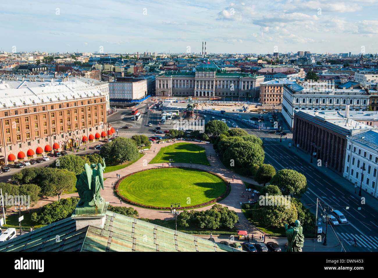 View from St. Isaac's Cathedral, St. Petersburg, Russia, Europe - Stock Image