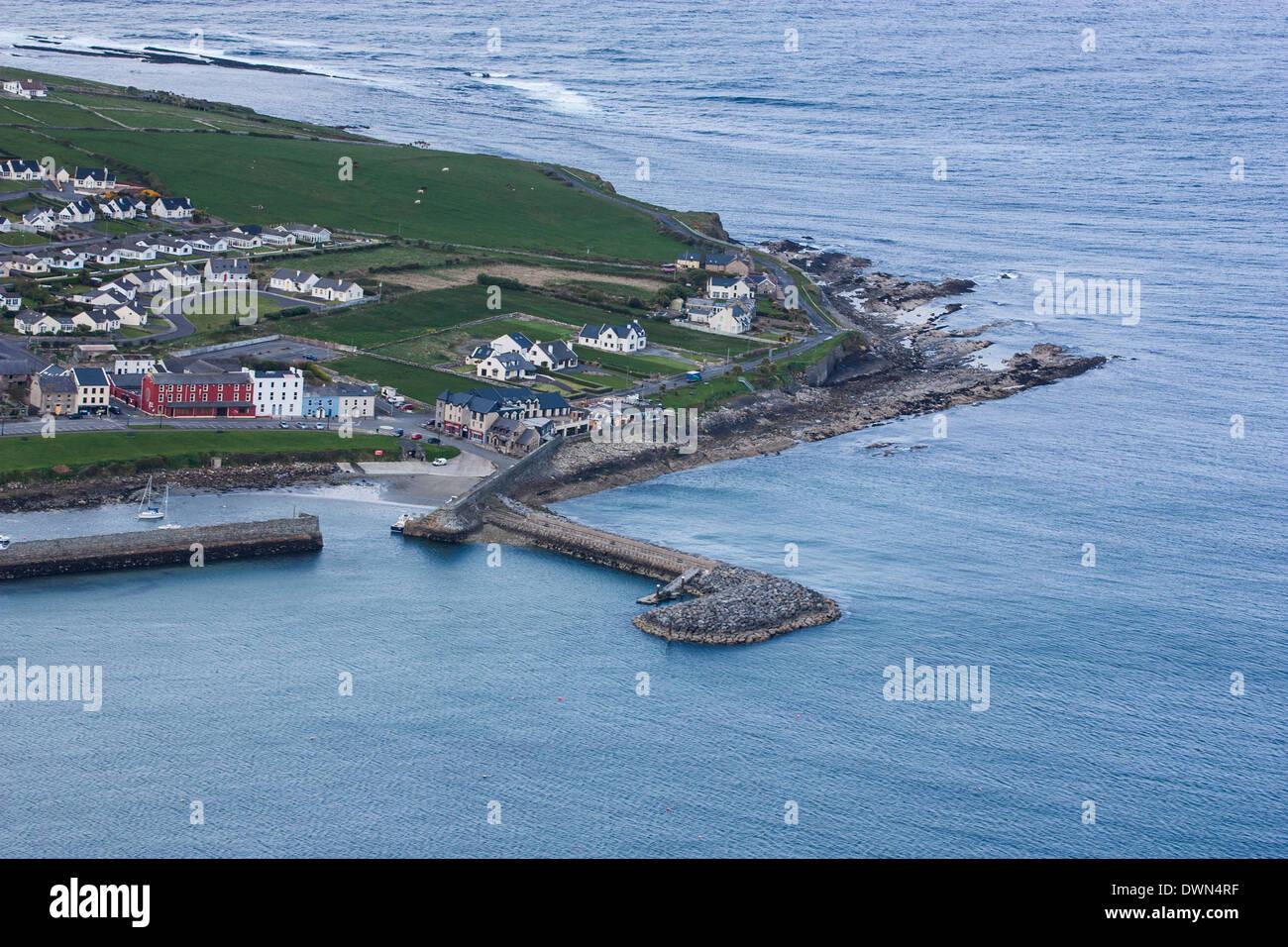 Coney Island, Sligo, Wild Atlantic Way from the air - Stock Image