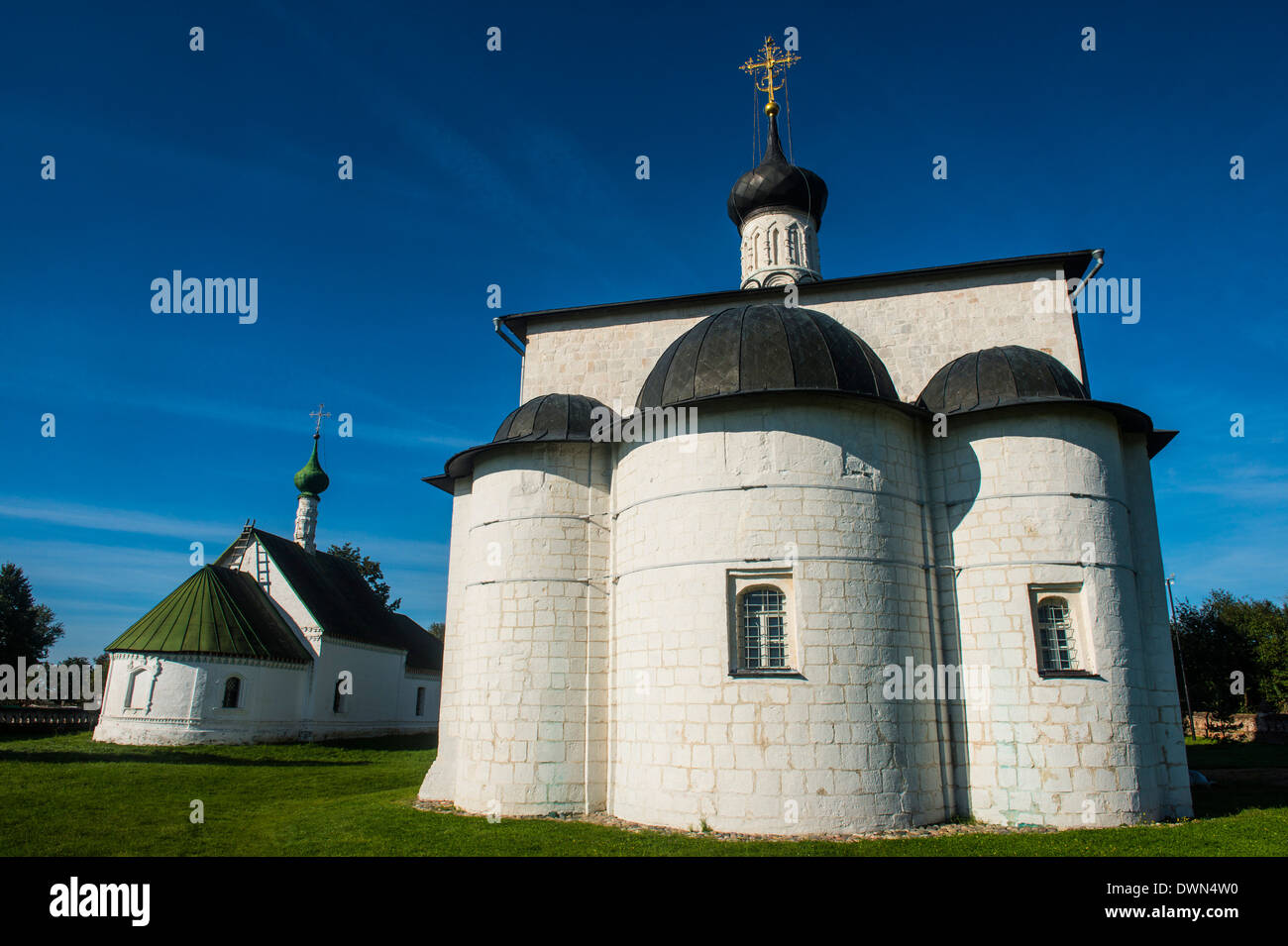 Church of Boris and Gleb in Kidesha (Kideksha), UNESCO World Heritage Site, near Suzdal, Golden Ring, Russia, Europe - Stock Image