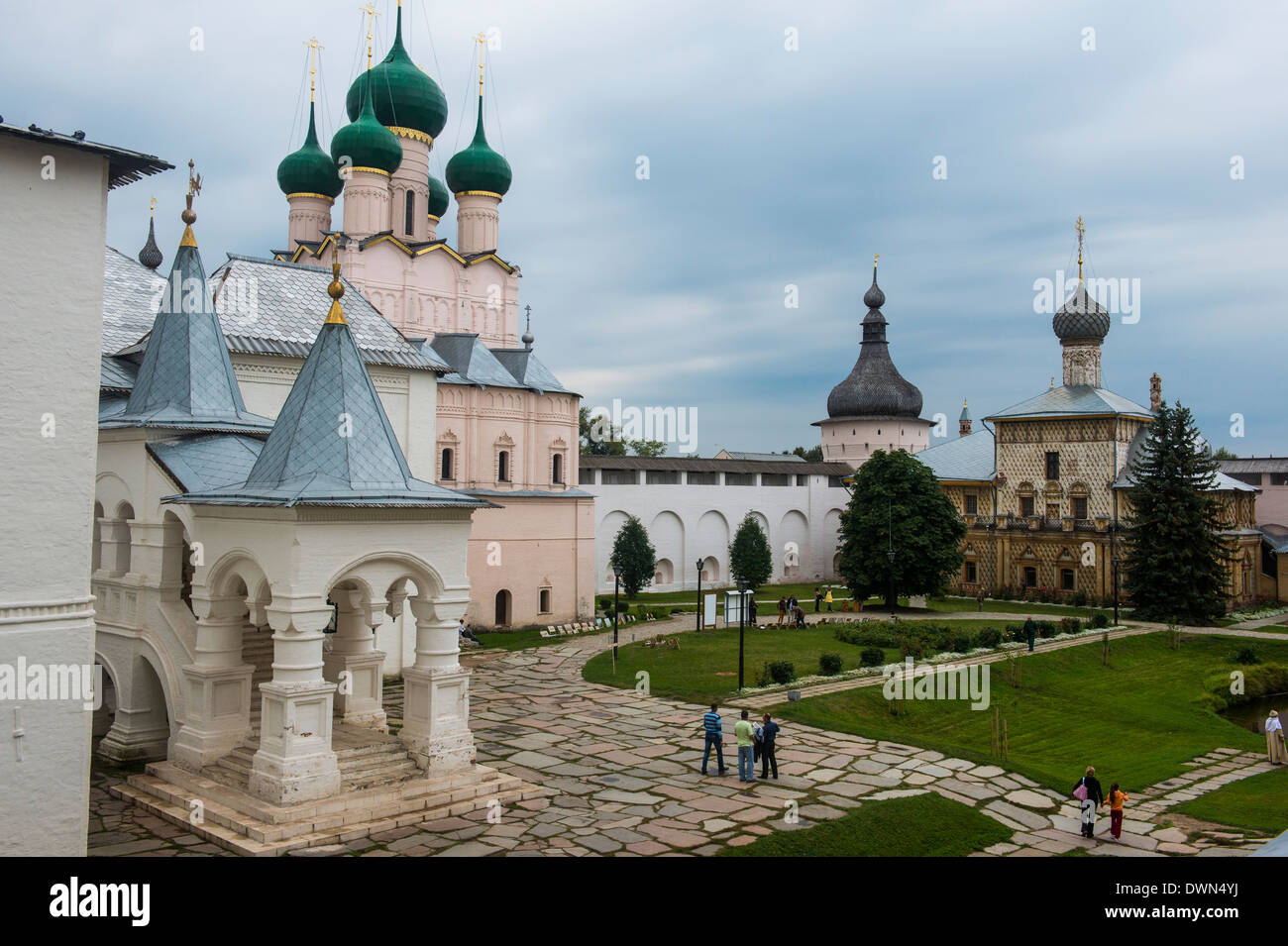 The Kremlin of Rostov Veliky, Golden Ring, Russia, Europe - Stock Image