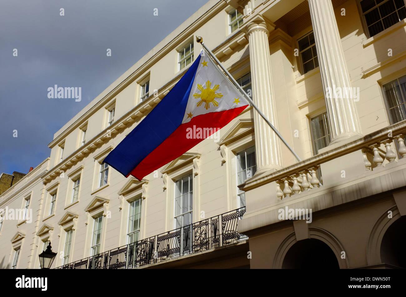 Great Philippines Embassy On Suffolk Street, London, UK