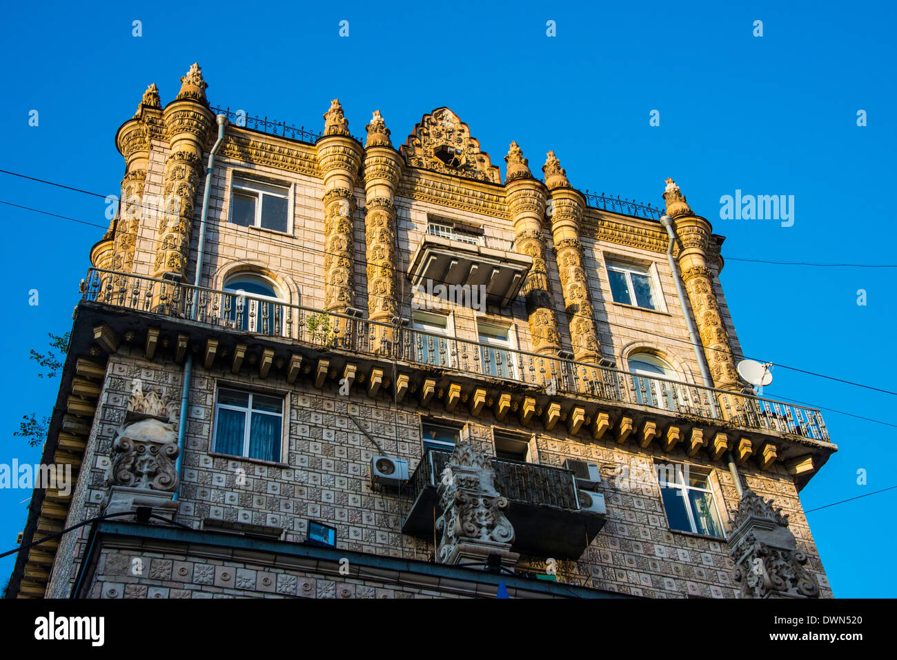 Stalinist architecture in the center of Kiev (Kyiv), Ukraine, Europe Stock Photo