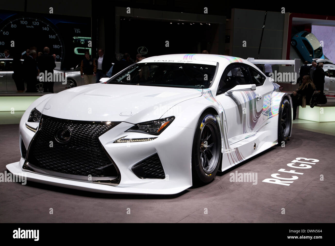 Lexus RC F GT3 Racing Concept at the 84th Geneva International Motor ...