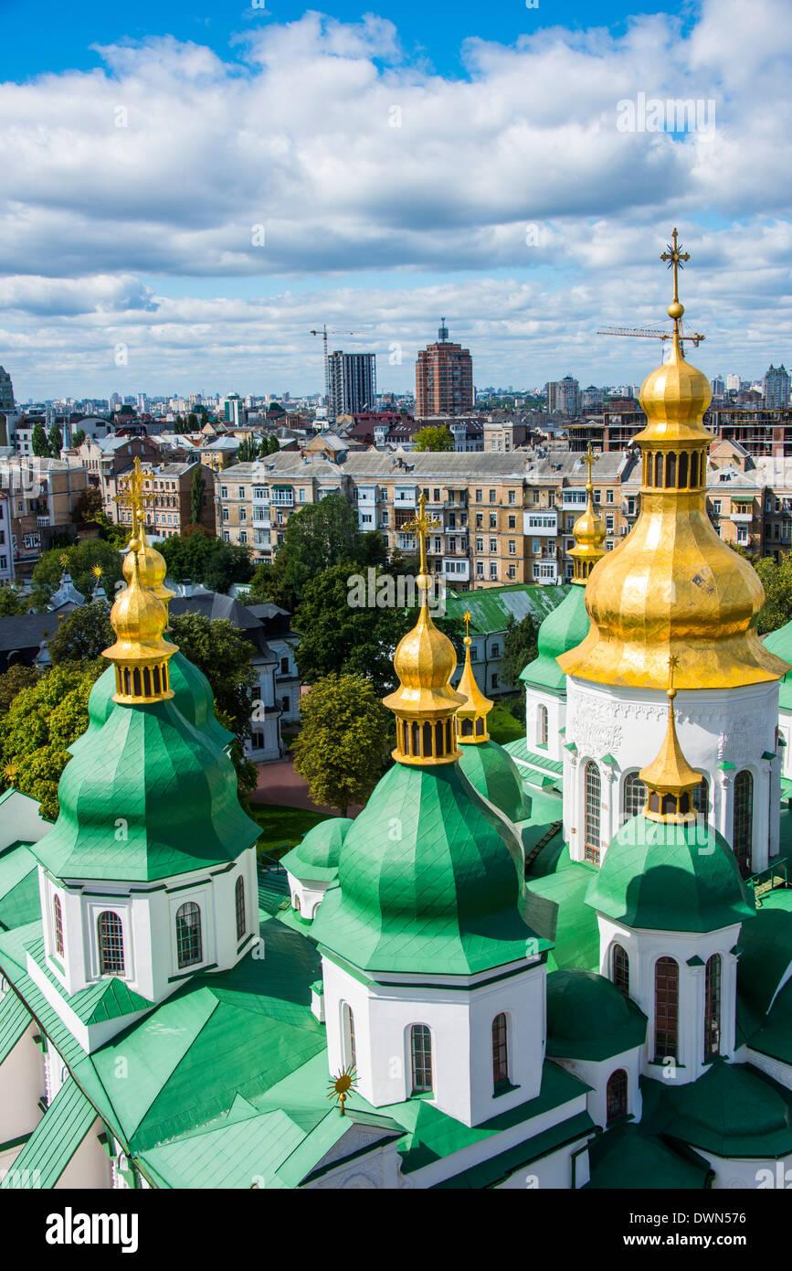 St. Sophia's Cathedral, UNESCO World Heritage Site, Kiev (Kyiv), Ukraine, Europe - Stock Image