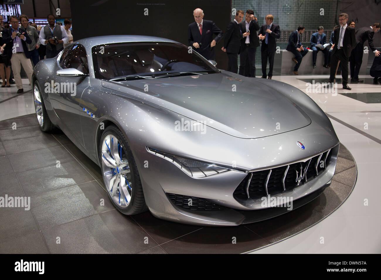 Maserati Alfieri concept at the 84th Geneva International Motor Show 2014. - Stock Image